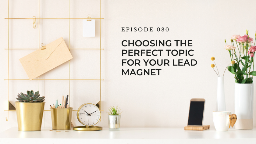 80. Choosing the Perfect Topic For Your Lead Magnet